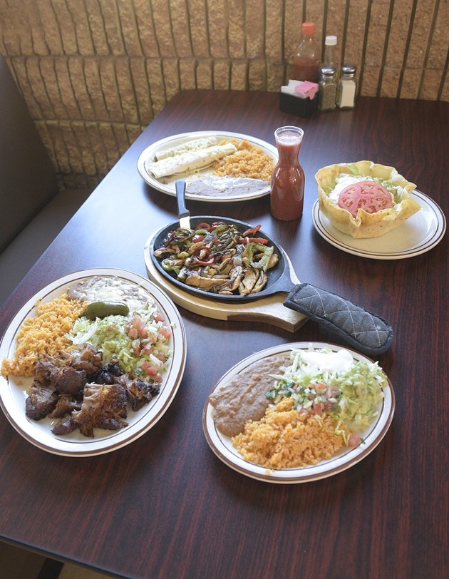 Food spread at - Los Perez in Oklahoma City, Wednesday, Dec. 28, 2016. - GARETT FISBECK
