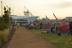 Urban Camping in the Boathouse District offers the fun of camping without the long drive. (provided)