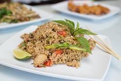 Thai House serves Kao Pad Kra Pao-Sicy basil fried rice on Monday, June 27, 2016 in Oklahoma City. - EMMY VERDIN
