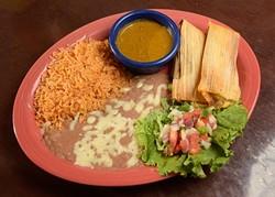 Tamales at Tarahumara's in Norman, Monday, Oct. 31, 2016. - GARETT FISBECK