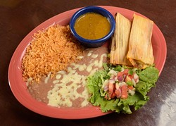 Tamales at Tarahumara's in Norman, Monday, Oct. 31, 2016. - GARETT FISBECK