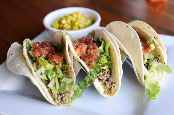 Picasso Cafe's quinoa tacos | Photo Garett Fisbeck