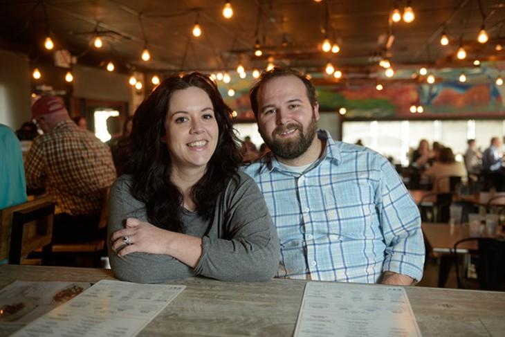 Shannon and Jordan Sipes at Cafe Cacao, Tuesday, Jan. 31, 2017. - GARETT FISBECK