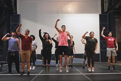 The cast of Pollard Theatre's rendition of Bring It On: The Musical at the Theatre on Wednesday, May 31, 2017 in Guthrie, Okla. The musical will be held there from June 9 to July 1, 2017. (Cara Johnson).