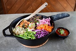 ?Iron bibimbap at Chae Modern Korean, Wednesday, May 11, 2016. - GARETT FISBECK