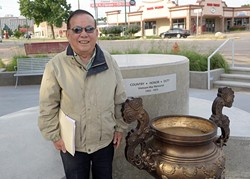 Vinh Nguyen at the location of the American Community Vietnam Monument at Military Park, Tuesday, June 27, 2017. - GARETT FISBECK
