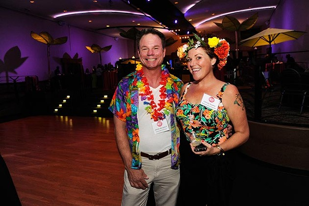 James Bengfort and Christy Duane are ready to party.