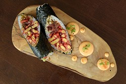 Flaming Tuna Sushi-Rito (Garett Fisbeck)
