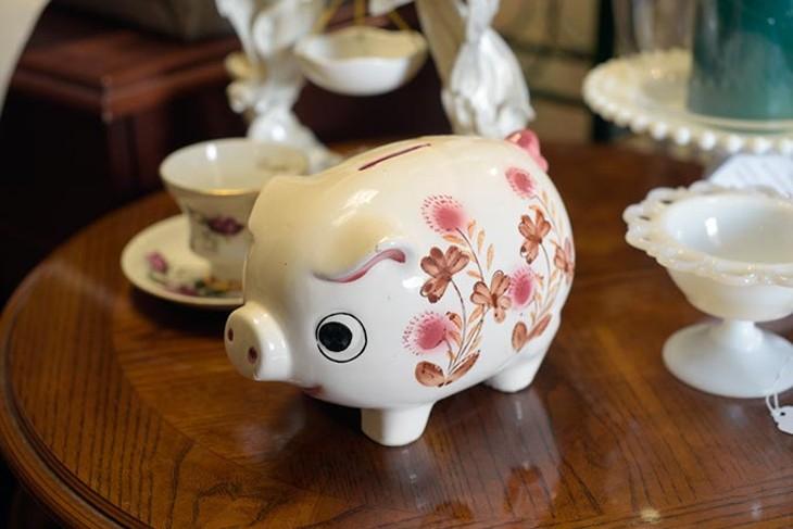 Piggy bank at New E Nuff, Monday, March 6, 2017. - GARETT FISBECK