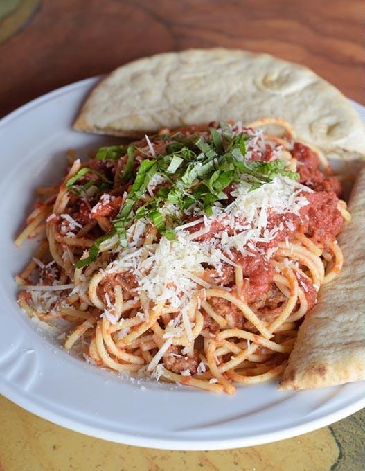Spaghetti at Sauced, Thursday, March 9, 2017. - GARETT FISBECK