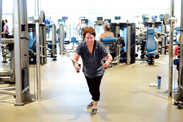 Suzanne Parr works out at the MAPS 3 Senior Health and Wellness Center operated by Healthy Living OKC. | Photo Garett Fisbeck