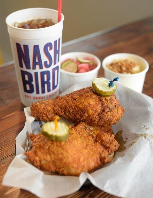 Fried-chicken basket at Nashbird, Thursday, Aug. 24, 2017. - GARETT FISBECK