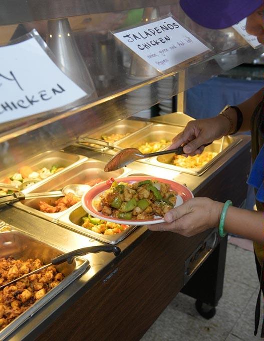 Lunch buffet at Thai Kitchen Cafe, Monday, Aug. 15, 2016. - GARETT FISBECK
