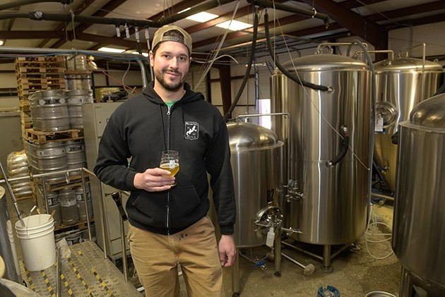 Head brewer Tony Pielli at Roughtail Brewing Co. in Midwest City, Friday, Feb. 3, 2017. - GARETT FISBECK