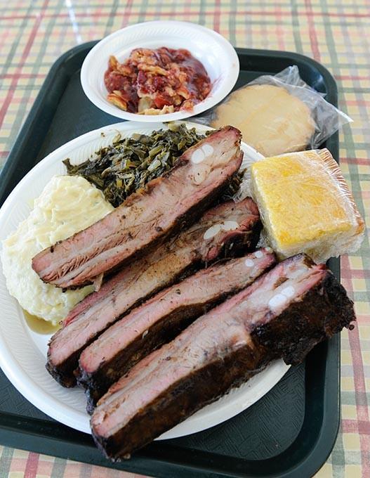 Pork Rib Dinner at George's Happy Hog BBQ in Oklahoma City, Thursday, May 28, 2015. - GARETT FISBECK