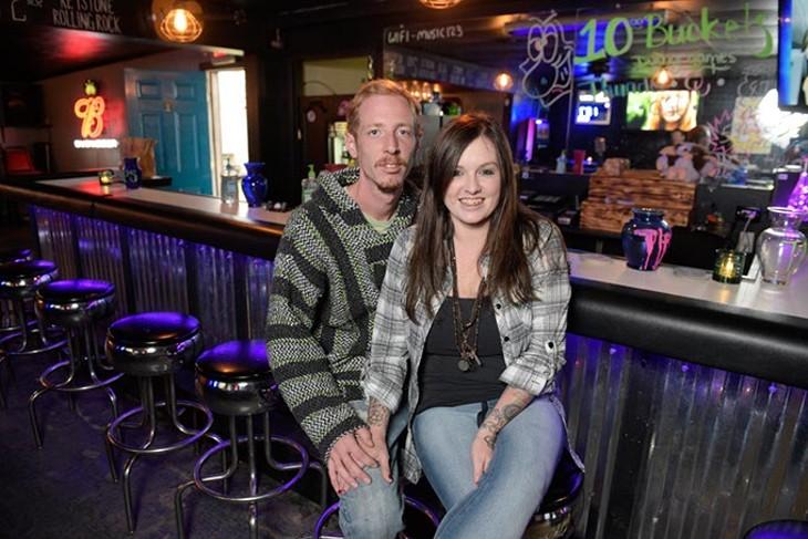 Justin and Sarah Ward at Vices in El Reno, Monday, Nov. 7, 2016. - GARETT FISBECK