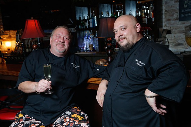 from left Chefs Bruce Rinehart and Jason Bustamante | Photo Garett Fisbeck / file - GARETT FISBECK
