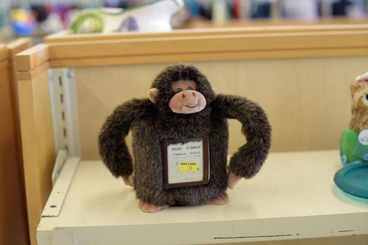 Monkey fram at Heart and Hand Thrift Store Monday, March 6, 2017. - GARETT FISBECK
