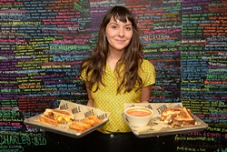 Allie Vallee poses for a photo at the Mule, Tuesday, Aug. 15, 2017.  (Garett Fisbeck)
