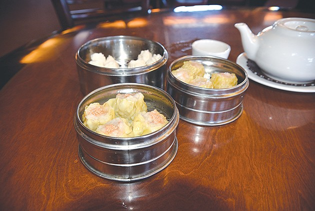 Among Fung's Kitchen's most popular dim sum dishes are shrimp siu mai, barbecue pork steam bun and special siu mai with fish eggs. | Photo Jacob Threadgill