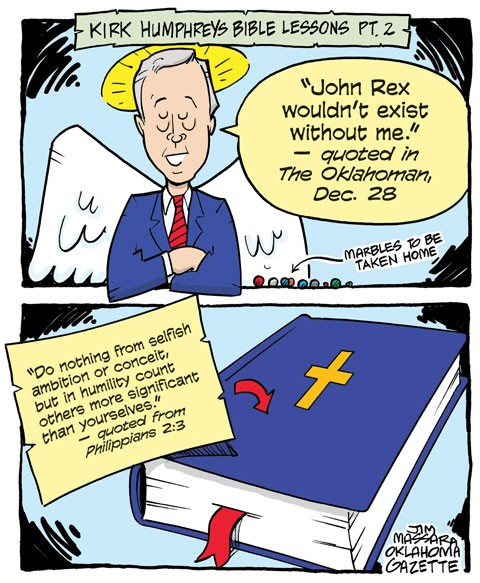 Cartoon: Kirk Humphreys Bible lessons part 2