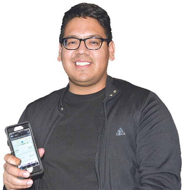 Driver Sergio Duenez said Uber passengers engage when he asks how their day is going. | Photo Laura Eastes