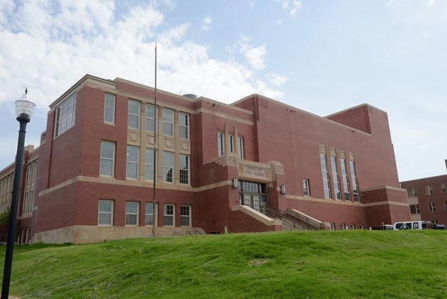 Page Woodson School has been renovated into an apartment building and community space.