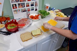 Guests have a chance to select a custom grilled cheese for the Early Foundations fundraiser.   Photo Oklahoma Autism Center / provided