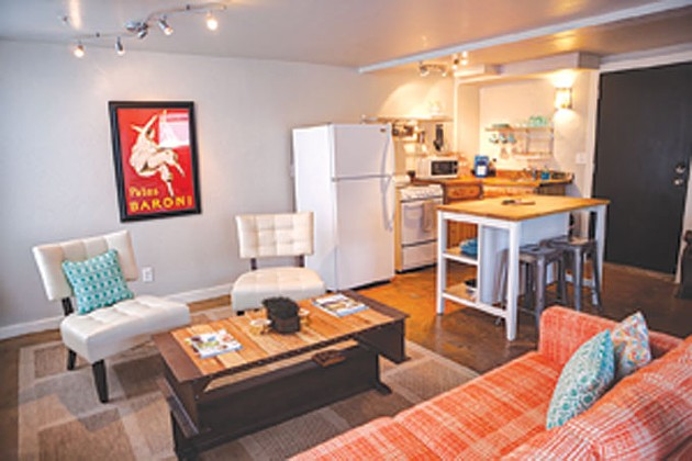 The owners of 16th Street Plaza District's Aurora Breakfast, Bar & Backyard have been renting out their two-story loft apartment as a per-night Airbnb rental since last summer. | Photo provided