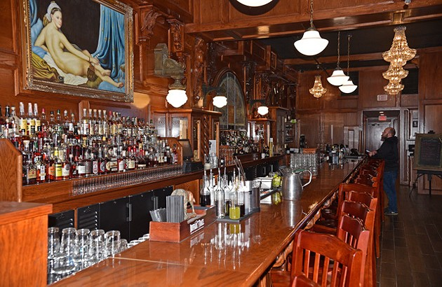 McClintock's 50-foot bar was built by a local contractor. (Photo Jacob Threadgill)