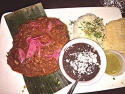 The cochinita pibil marinated pork is served in a citrus-pepper sauce. | Photo Jacob Threadgill