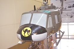 A replica of the Huey helicopter Oklahoma native Bob Ford flew while on combat duty in Vietnam | Photo Jacob Threadgill