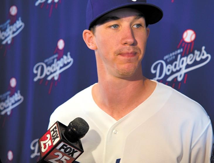 Pitcher Walker Buehler starts the season atop the Oklahoma City Dodgers' rotation and the organization's prospect rankings. - JACOB THREADGILL