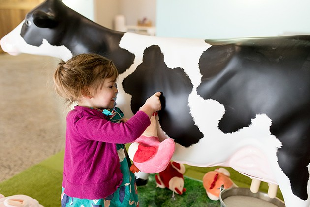 Lucy the mooing cow is the only electronic toy at Okie Kids Playground. - PHOTO COURTNEY DESPAIN / PROVIDED