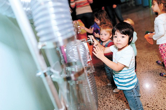 Children play with the air tubes at Okie Kids Playground, which opened in Edmond in January. - PHOTO COURTNEY DESPAIN / PROVIDED