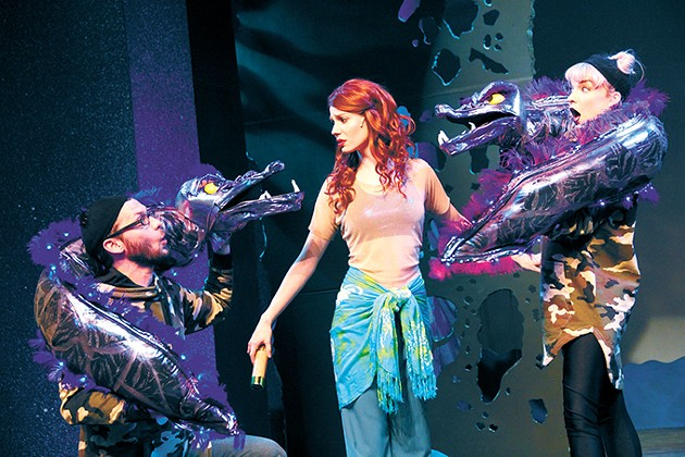 Jared Blount, Emily Paige Cleek and Emily Pace star in The Little Mermaid. - POLLARD THEATRE COMPANY / PROVIDED