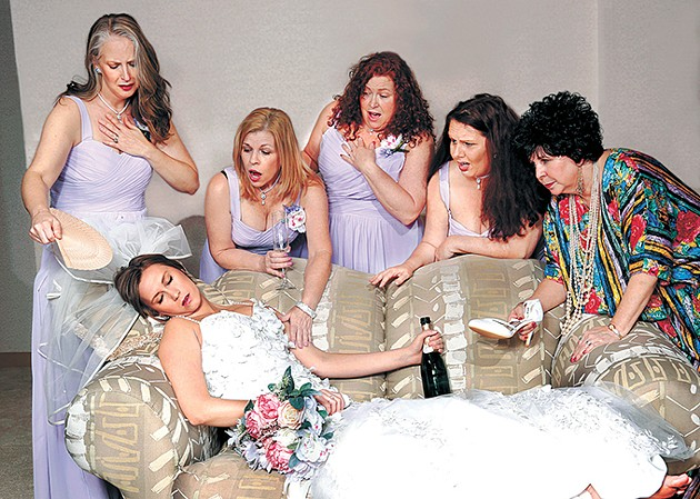 Always a Bridesmaid culminates in four lifelong friends being bridesmaids in the wedding of one of their daughters. - JIM BECKEL / JEWEL BOX THEATRE / PROVIDED