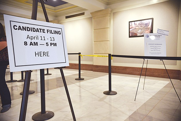Nearly 800 Oklahomans filed to run for federal, state and judicial office for the 2018 Oklahoma Elections over a three-day period at the state Capitol last week. - LAURA EASTES