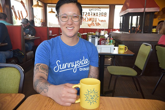 Aly Cunningham owns Sunnyside Diner locations with Shannon Roper. - JACOB THREADGILL