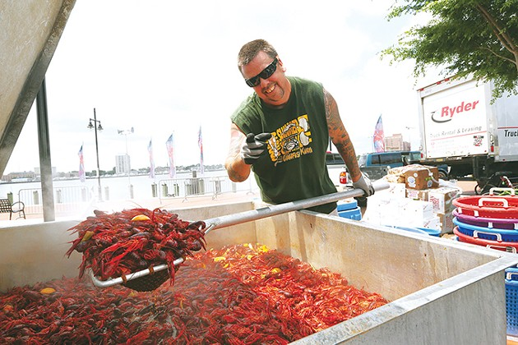 "Self-proclaimed ""Crawfish King"" Chris ""Shaggy"" Davis will serve boiled crawfish and jambalaya at Chisholm Trail & Crawfish Festival. - PROVIDED"