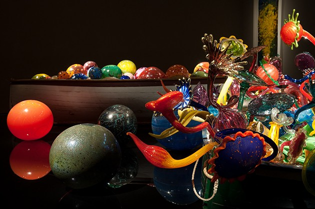 OKCMOA uses various levels and angles of light to display its Dale Chihuly glass in interesting ways. - JOSEPH MILLS / OKLAHOMA CITY MUSEUM OF ART / PROVIDED
