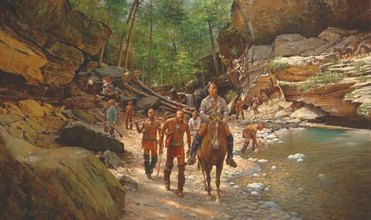 """""""Cherokee Caravan"""" by Robert Griffing - NATIONAL COWBOY & WESTERN HERITAGE MUSEUM / PROVIDED"""