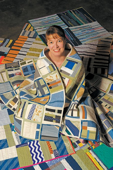 Sarah Atlee switched her full-time art focus from painting to quilting two years ago. - MARK HANCOCK