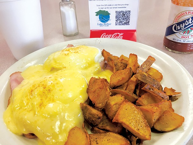 As a Wednesday special, the eggs Benedict with a drink and a side of home fries only costs $5.95. - JACOB THREADGILL