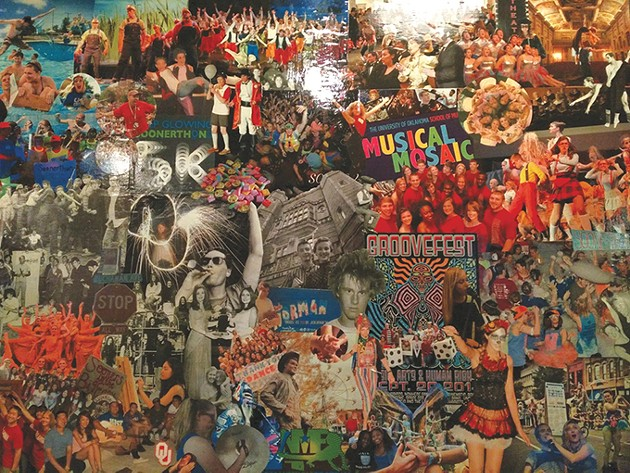 A collage at Hideaway Pizza in Norman - PROVIDED