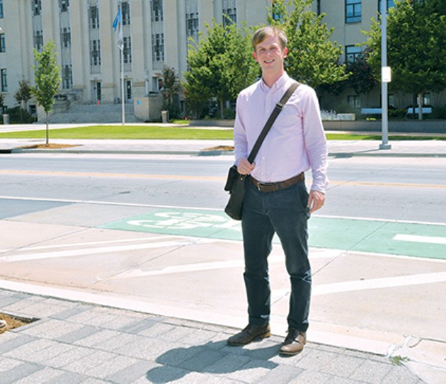 City of Oklahoma City Planning Department bike and pedestrian planner John Tankard played a key role in developing bikewalkokc. - BEN LUSCHEN