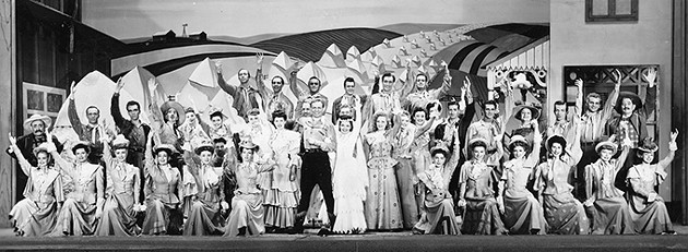 The Broadway cast of Rodgers & Hammerstein's Oklahoma! just before the curtain call on stage in 1947. - OKLAHOMA HISTORICAL SOCIETY / PROVIDED
