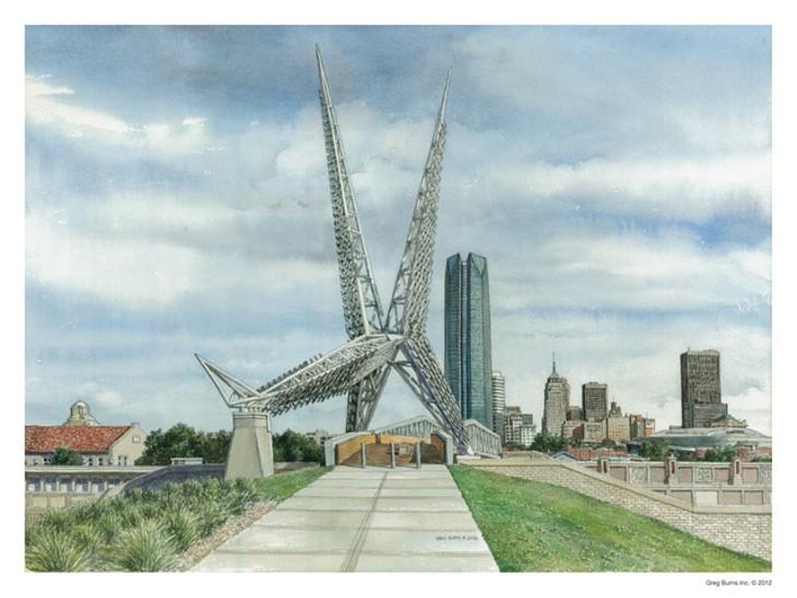 """Skydance Bridge"" by Greg Burns - GREG BURNS / OKLAHOMA HISTORY CENTER / PROVIDED"