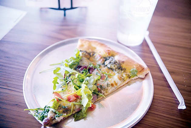 The Yaya Veg is one of the most popular specialty pizzas at Wheelhouse Pizza Kitchen. - JACOB THREADGILL