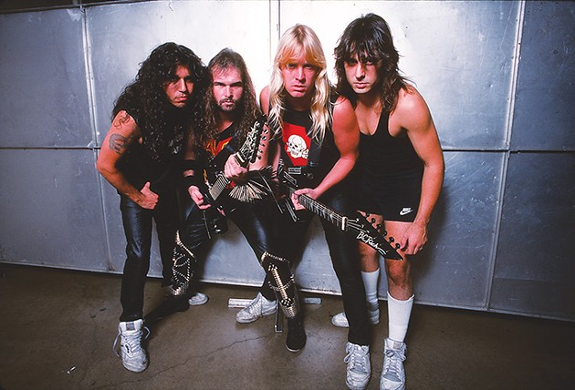 Slayer was founded in 1981 by from left vocalist and bassist Tom Araya, guitarists Kerry King and Jeff Hanneman and drummer Dave Lombardo. - PROVIDED